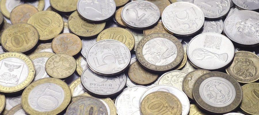 Coins Ruble Russian Money Finances
